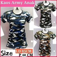 Kaos Army Anak/Kaos Loreng Anak/Baju Armi Tentara Anak/Army
