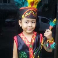 PROMO Dayak TK Wanita Lengkap   Baju Adat Kostum Anak Karnaval Parade