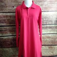 Sale S-Xl Baju Kaos Polos Muslimah Polo Lacoste Panjang Syari Busui -