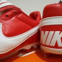 Sepatu Bola - Soccer Nike Tiempo Premier II Leather University Red -FG