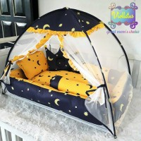 set kasur bayi matras baby nest dan kelambu bayi starmoon
