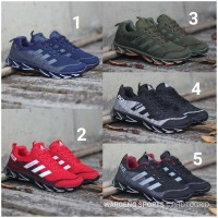 Sepatu Pria Adidas Running Springblade AX2 Men Cowok Black Red Navy AX