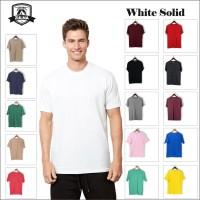 baju kaos polos distro bandung WHITE SOLID(putih solid) - L