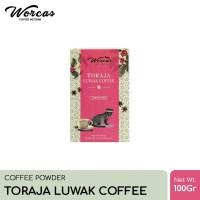 WORCAS Toraja Luwak Coffee 100gr   Coffee Powder