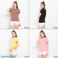 Baju kaos oblong wanita polos bahan cotton import premium