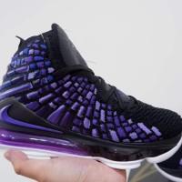 Sepatu Basket Nike Lebron 17 Black Purple