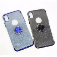CASE GLITTER RING VIVO Y81 Y91 Y91C Y93 Y95 V15 PRO IPHONE 6 7 8 X XR