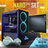 PC FULL SET   i5-650   GT1030   8GB   SSD   LED 19   Langsung Pakai - fullset
