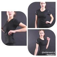 Baju Atasan Olahraga Wanita / Kaos Dry fit Wanita / Pakaian Senam Gym