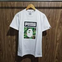 Kaos Bape X Puma White Premium