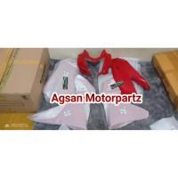 full cover body fairing depan ninja 250 rr mono merah original