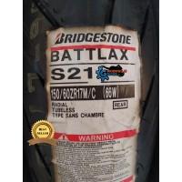Ban Battlax S21 150/60 - 17 Rear/Belakang Ninja250Fi CBR250RR R25