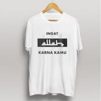 Kaos baju muslim t-shirt dagelan muslim - Putih, M