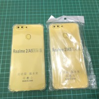 Anti Crack Realme 2 / Oppo A5 / A3S Case Bening Jelly Softcase