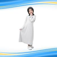 BAJUYULI Baju Muslim Gamis Anak Perempuan Murah Polos Jersey Putih FJT