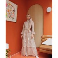 Humaira Dress Baju Gamis Syari Brukat Realpict Dress Muslim Modern