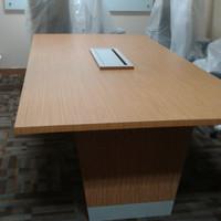 meja meeting kantor, meja rapat 4 orang, meja rapat hpl