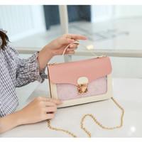 434 Tas Selempang Wanita Mini Kotak Simple Handbag NEW FASHION KOREA