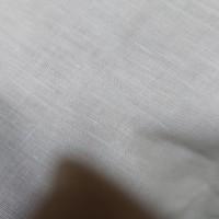 kain linen import/bahan atasan kemeja - Broken White