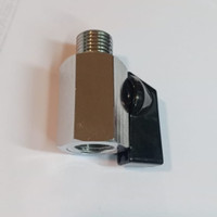 ball valve drat luar dalam 1/2 brass (kuningan ) chrome gagang pendek