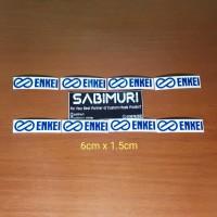 Enkei Cutting sticker velg stiker bahan oracal 1 set 8pcs