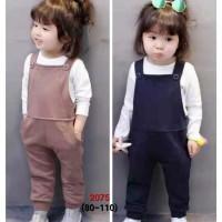 Fashion Anak / Baju Set Anak Perempuan / Overall Polos