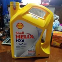 Oli Shell Helix HX6 10W-40 Synthetic 4 Liter
