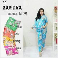 setelan cp sakura - piyama batik wanita