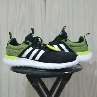 Sepatu Running Adidas Cloudfoam Lite Racer Original Black Stabilo