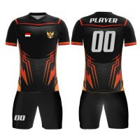 Kaos Baju Jersey Futsal Bola Setelan Celana Motif Batik KLB101 Dry Fit