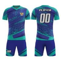Kaos Baju Jersey Futsal Bola Setelan Celana Motif Batik REI03Dry Fit