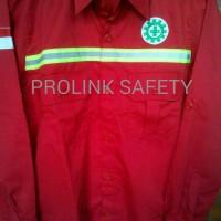 Big Sale Baju Safety Merah Seragam Proyek Lapangan Scotlight Fosfor