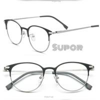 Frame Kacamata FF103 Titanium Full Frame korea Bulat Pria wanita Minus