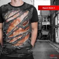 Kaos Print 3D Unik Limited Sixpack Robek 2 Baju Pria Wanita Anak