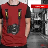 Kaos Print 3D Photographer Hanging Nikon Baju Pria Wanita Anak