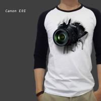 Kaos Print 3D Canon dslr Baju Pria Wanita Anak