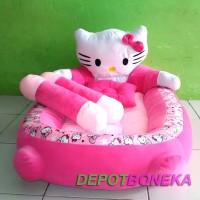 Kasur bayi karakter kepala hello kitty plus bantal dan guling murah