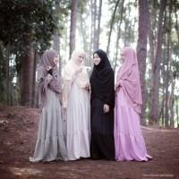 Adifa Dress Baju Gamis Syari Jersey Rempel Susun Baju Modern