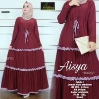 Aisya Dress Baju Gamis Syari Jersey Canda Rempel Busui Modern