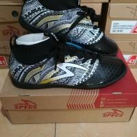Sepatu futsal specs heritage in black gold white New 2018