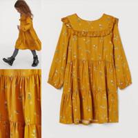 dress anak lengan panjang cantik bunga H&M original branded