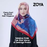 Hijab Jilbab Kerudung Segi Empat CHERRY Scarf ZOYA Original