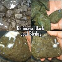Bahan Batu Black Opal Kalimaya Bledug Boulder MAJA BANTEN Bakat Jarong