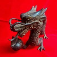 Patung Naga Liong Besar Antik Unik