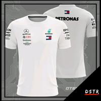 Kaos Baju Jersey F1 Formula 1 Mercedes Putih Full Print HR0074