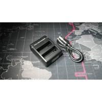 Charger OEM GoPro Hero 4 Dual Charging Silver Black Mini USB
