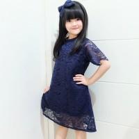 Dress Brokat Anak | Baju Pesta Anak | DRESS BROKAT BASIC
