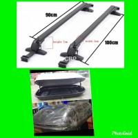 Paket cross bar dan roof box mobil Agya / ayla