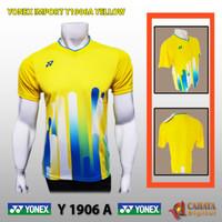 Baju Kaos Jersey Badminton Yonex Y1906A   Grade Ori Import   YELLOW