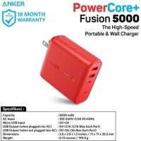 ANGKER POWERCORE FUSION POWER BANK 5000MAH RED A1621H91